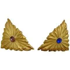 1980s Emilio Pucci gold tone cufflinks Unworn