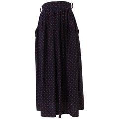 Moschino Cheap & Chic blu red stars silk skirt