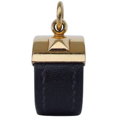 Hermes Collier de Chien CDC Medor Ring Black Leather Gold Hdw Size M