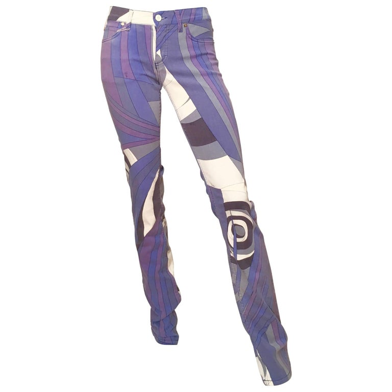 Emilio Pucci Cotton Stretch Skinny Jeans Size 4. Never Worn.