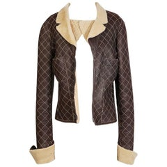 Chanel Quilted Lambskin Shearling Jacket from 2004