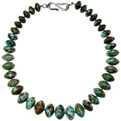 Chinese Graduated Turquoise Necklace