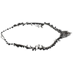 Chanel 2010 Long necklace in Stainless Steel and Fake Black Pearls