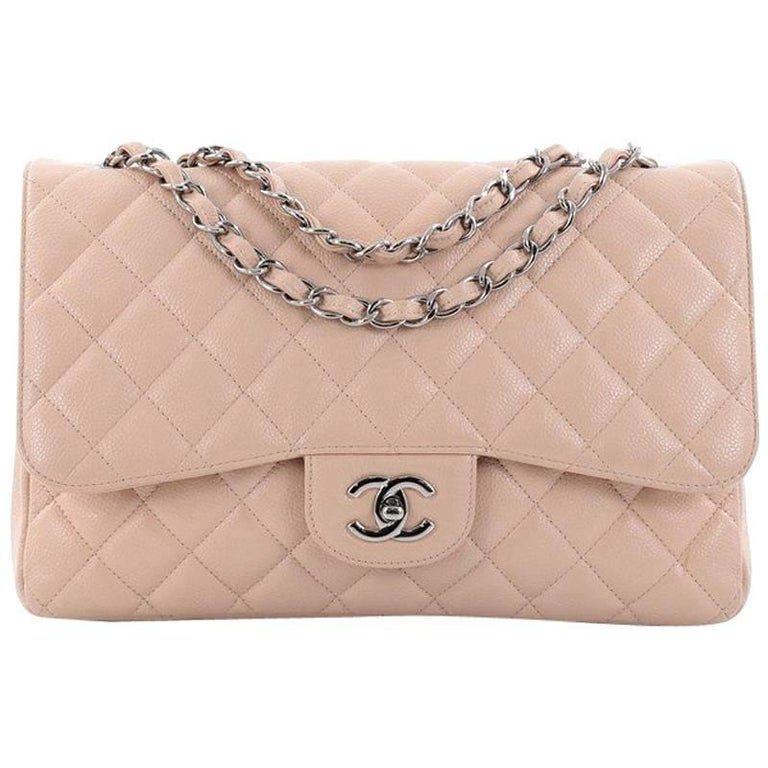 ca96de6e0baf02 Chanel Classic Single Flap Bag Quilted Caviar Jumbo at 1stdibs