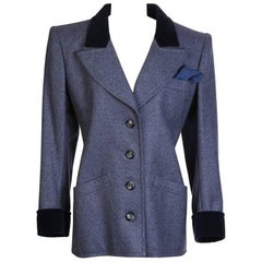 Yves Saint Laurent Haute Couture Blazer with Velvet Lapel