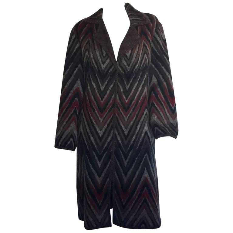 Missoni reversible knit coat