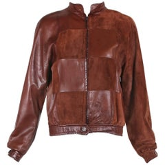 1970's Gucci Brown Suede & Leather Patchwork Jacket