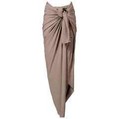 Jean Paul Gaultier Wrap Skirt with Wooden Ring, Resort 2011