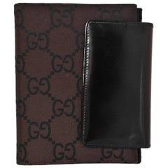 Gucci Brown Monogram Agenda Notebook/Wallet
