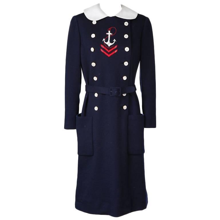 Norman Norell Wool Sailor Dress