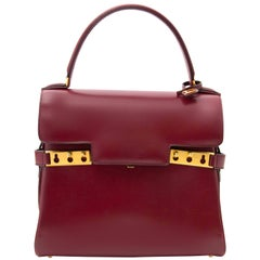 Delvaux Bordeaux Tempête PM Top Handle Bag