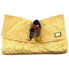 LOUIS VUITTON 'African Queen' Collection HandBag in Golden Cowhide Leather