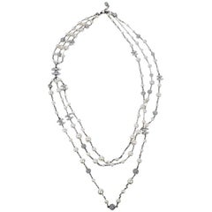 CHANEL Triple Row Necklace with Beads, CC and Balls
