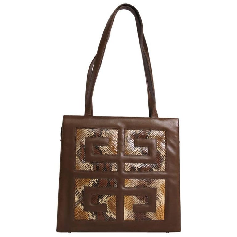 GIVENCHY Bag in Brown Lambskin Leather