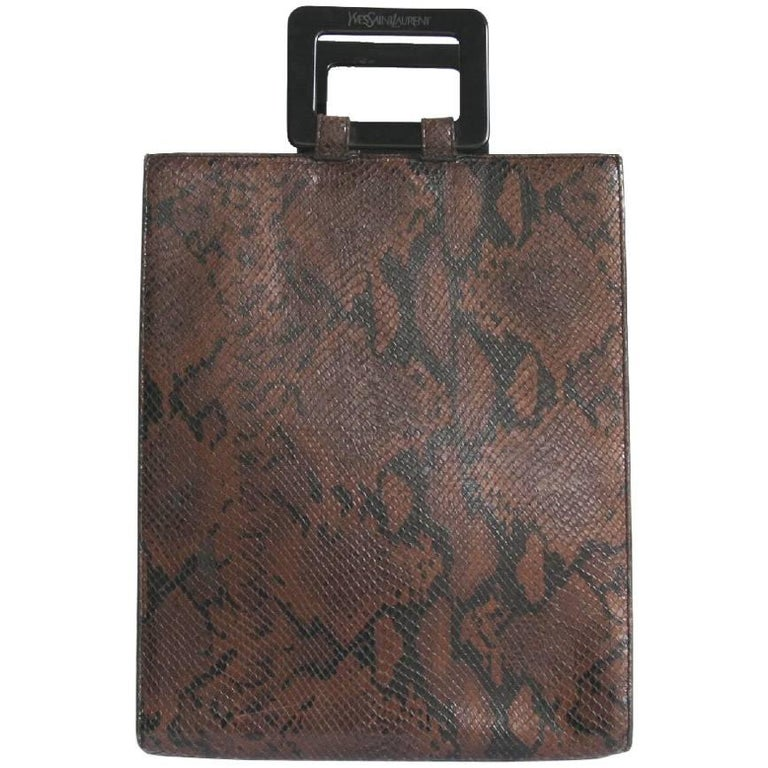 YVES SAINT LAURENT Bag in Brown Python Leather