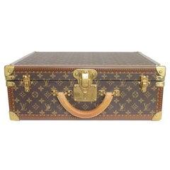 LOUIS VUITTON 'Bisten 50' Brown Monogram Canvas Suitcase