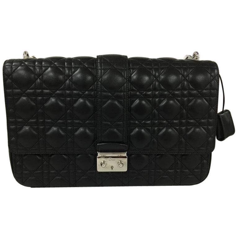 Dior Miss Flap Bag Cannage Quilt Lambskin Large For