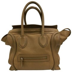Celine Luggage Handbag Grainy Leather Mini