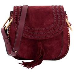 Chloe Hudson Handbag Whipstitch Suede Medium