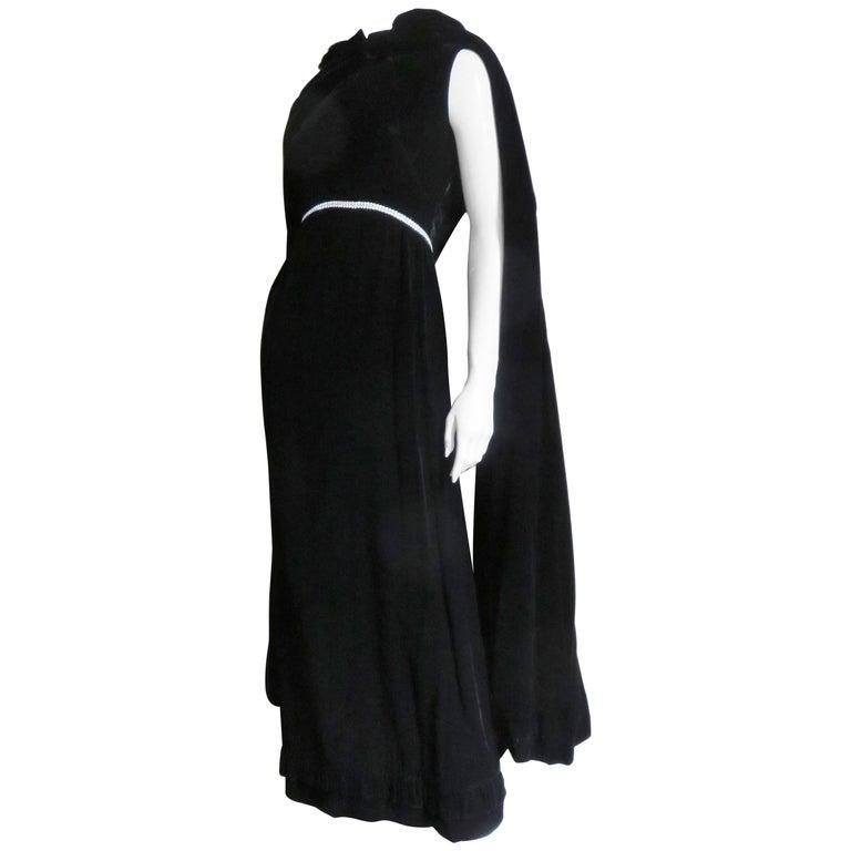 1960s Bill Blass Velvet Gown and Cape