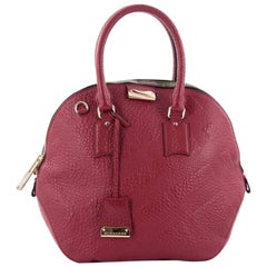 Burberry Orchard Bag Embossed Check Leather Medium