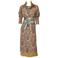 Geoffrey Beene Wool Challis Paisley Dress