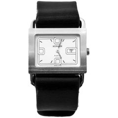 Hermes 25mm Stainless Steel Barenia Quartz Watch with Extra Band