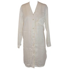 Christian Dior Ivory & Lace Nightshirt