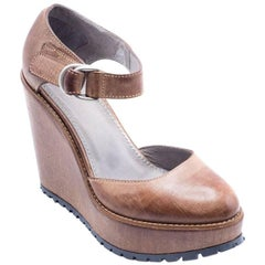 Brunello Cucinelli Women's Dark Brown Leather Pumps
