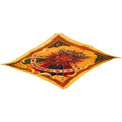 Rare Hermes Plisse Scarf - 100% Silk - 1994