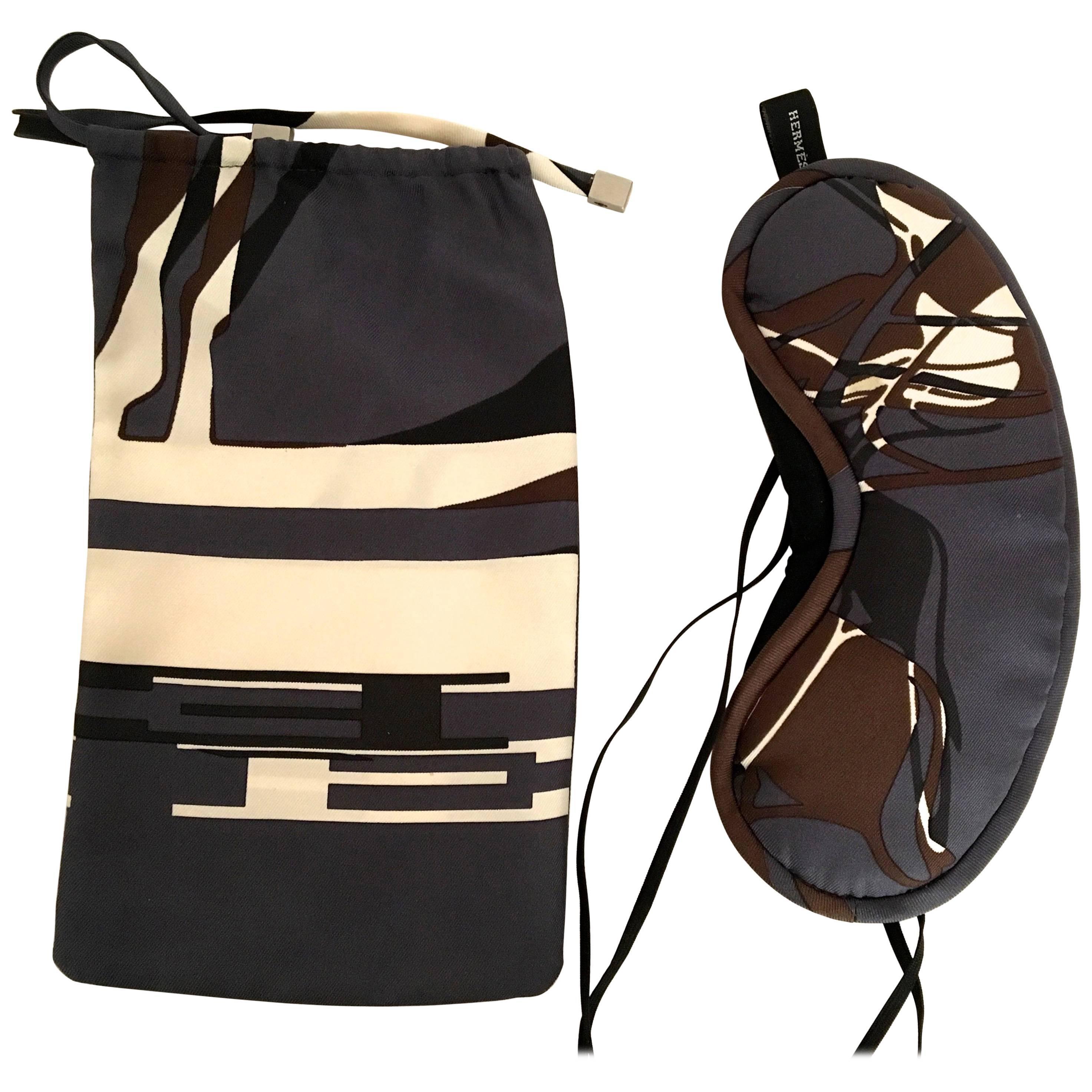 cb46cce083 ... best price hermes silk eye covers w matching bag 100 silk c468c 8ed8b