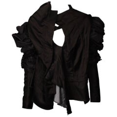 Comme des Garcons Ruffled and Gathered Asymmetric Top