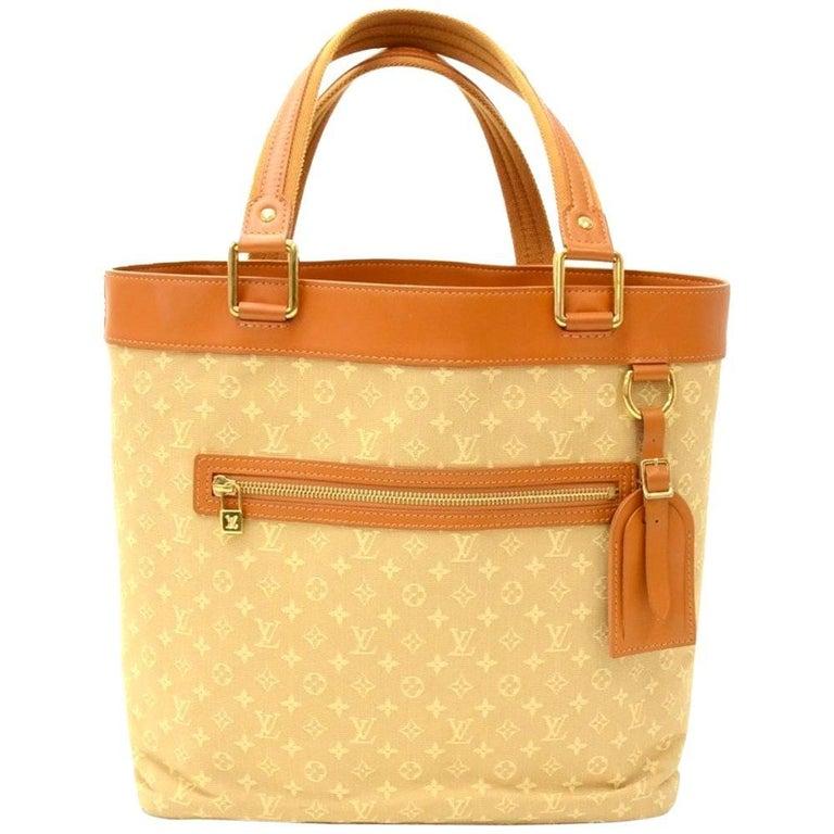 Louis Vuitton Lucille GM Beige Mini Monogram Canvas Hand Bag