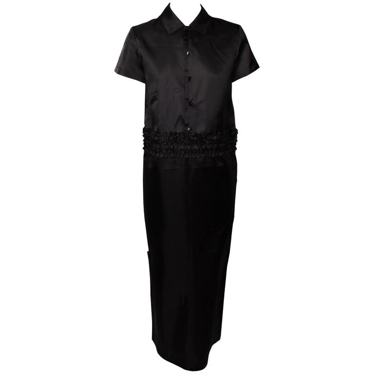 Comme des Garcons  Tricot 2 Piece Ruffle Dress