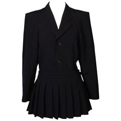 Comme des Garcons Tailored Jacket with Pleated Skirt