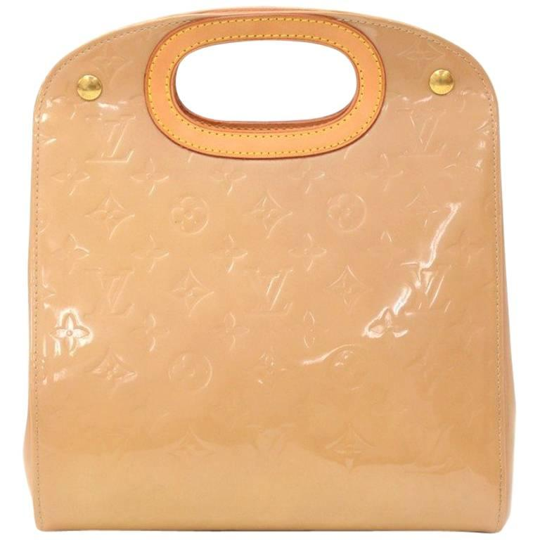 Louis Vuitton Maple Drive Noisette Vernis Leather Hand Bag