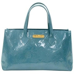 Louis Vuitton Willshire PM Blue Galactic Vernis Leather Hand Bag