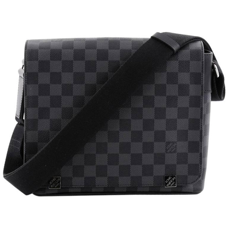 Louis Vuitton District Nm Messenger Bag Damier Graphite Pm For