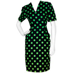 80s Vintage Balmain Polka-dot Cotton Dress