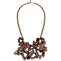 Statement Fall 2008 Burberry 'Chunky' Bronze Metalic Necklace - Runway Look 36