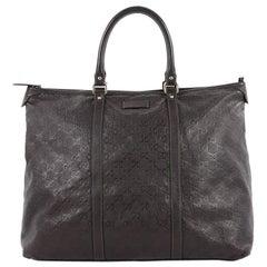 Gucci Joy Zip Top Tote Guccissima Leather Medium