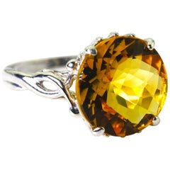 Unique Golden 6.25 Citrine Fashion Ring