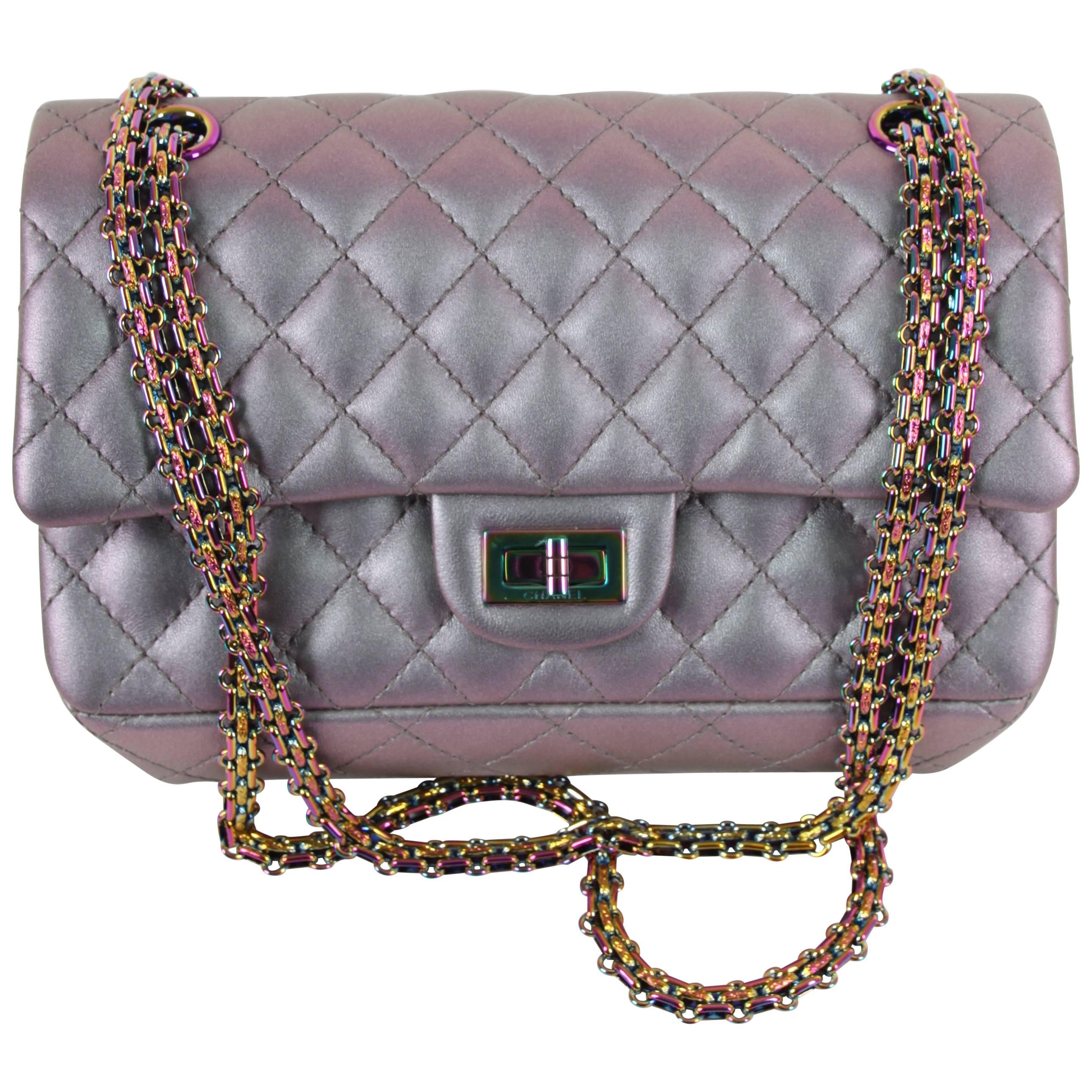 31749fa11d9b Chanel Medium 2.55 Reissue Double Flap Bag - Lilac Iridescent Mermaid at  1stdibs