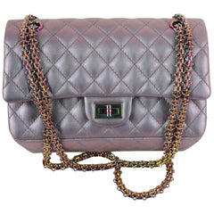 Chanel Medium 2.55 Reissue Double Flap Bag - Lilac Iridescent Mermaid