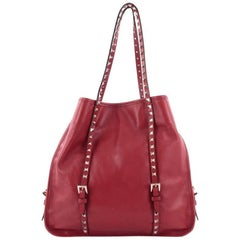 Valentino Rockstud Belted Tote Soft Leather Medium