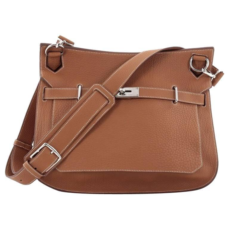 Hermes Jypsiere Handbag Fjord 37 For Sale