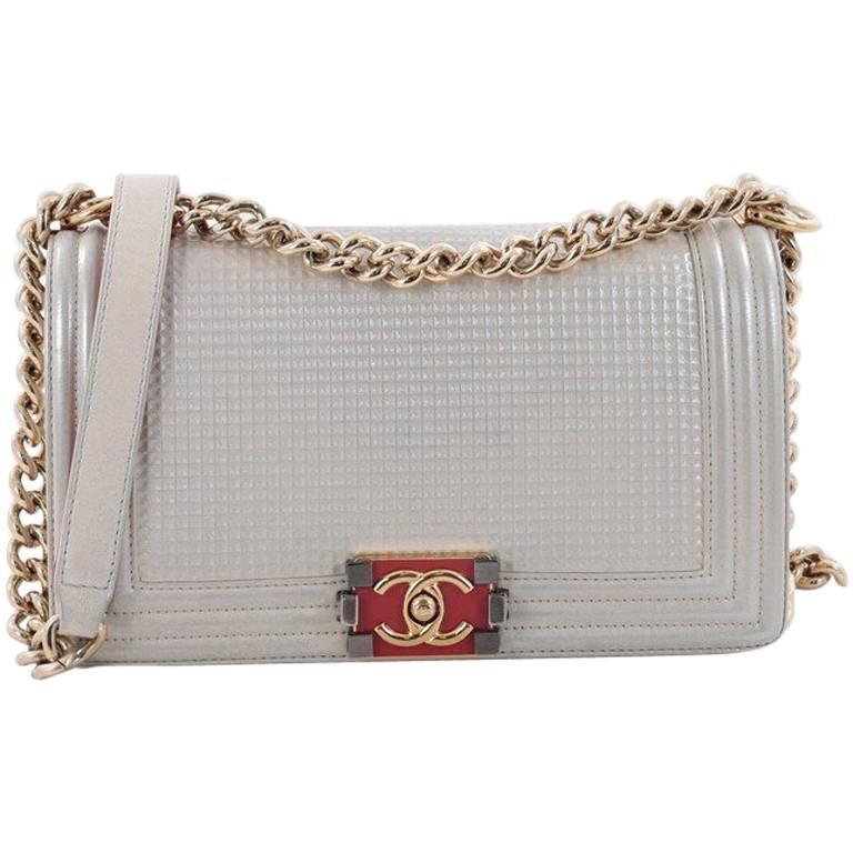 797f3773af3661 Chanel Boy Flap Bag Cube Embossed Lambskin Old Medium at 1stdibs