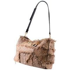 Christian Dior Lady Dior Medium Brown Tweed Tote Bag