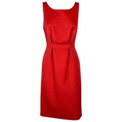 DIOR Tank Top Dress in Red Cashmere Size 38EU