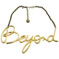 LANVIN 'Beyond' Necklace in Gilded Metal